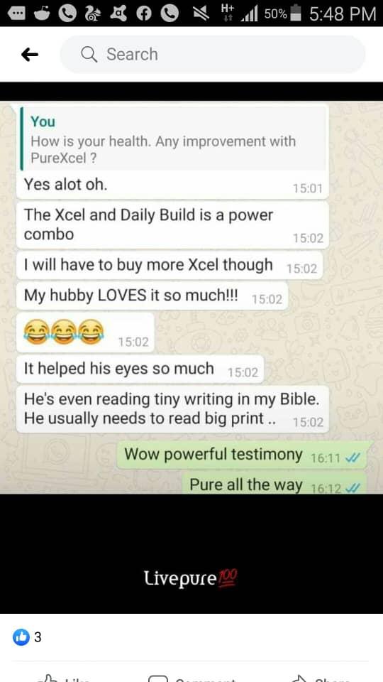 Purxcel eye testimonies